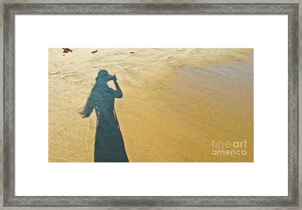 Shadow And Sand Raw Framed Print