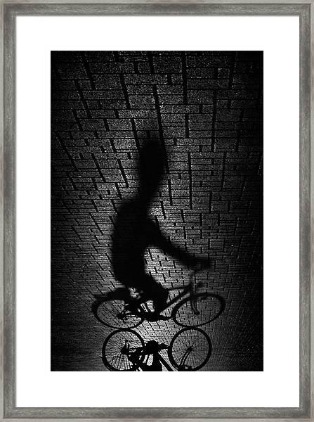 Shadow Bike... Framed Print