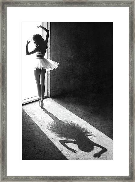 Shadow Dance Framed Print