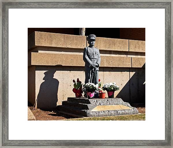 Shadow Of A Man 2013  Framed Print
