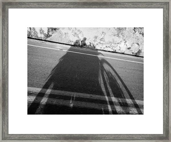 Shadow Of Adventure Framed Print