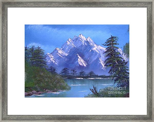 Shadowed Mountain Lake Framed Print