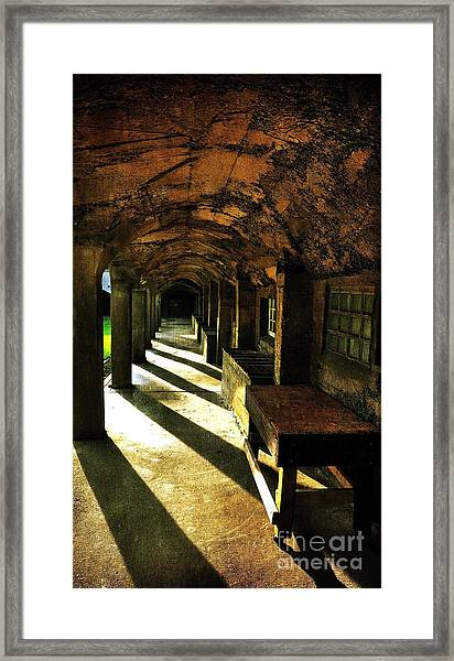 Shadows And Arches I Framed Print