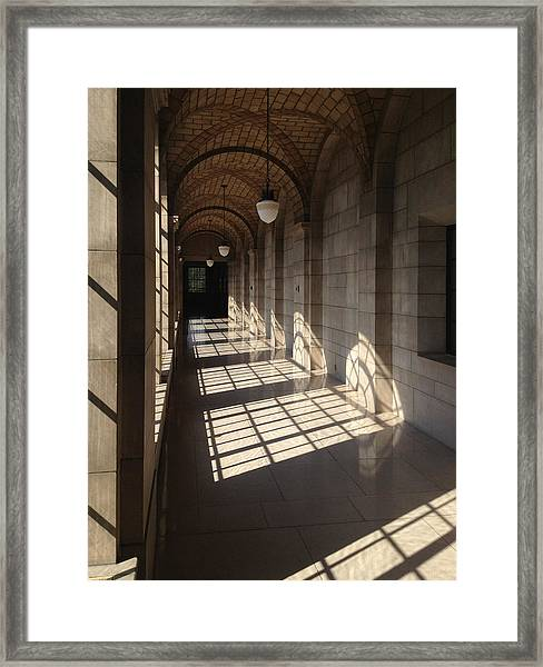 Shadows And Stone Framed Print