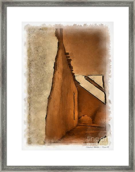 Shadows In Aquarell   Framed Print
