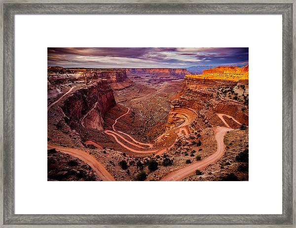 Shafer Trail Horizontal Framed Print