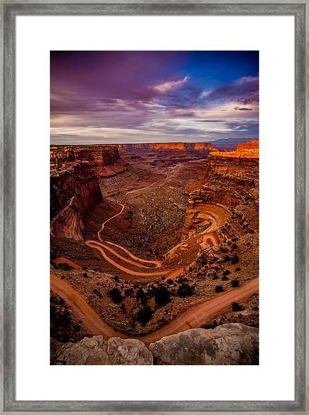 Shafer Trail Vertical Framed Print