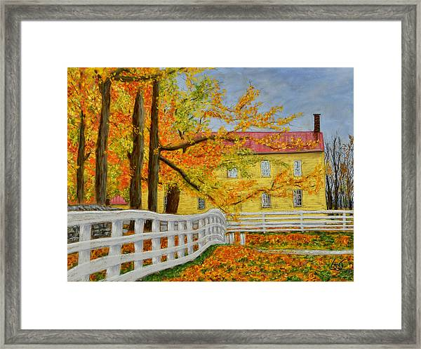 Shaker Fences Framed Print