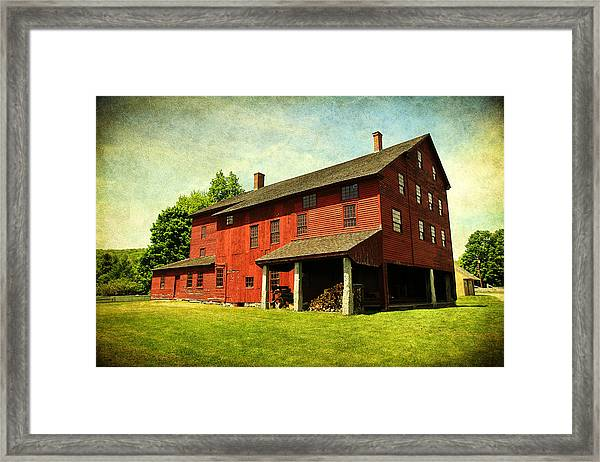 Shaker Village Barn Framed Print