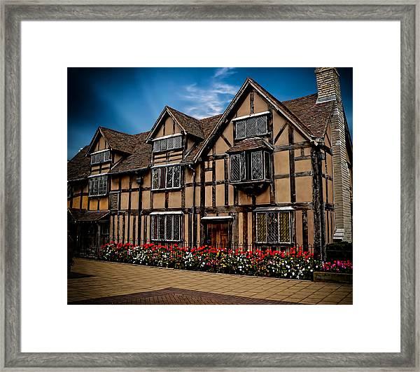 Shakespear Slept Here Framed Print