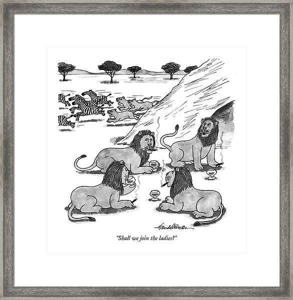 Shall We Join The Ladies? Framed Print