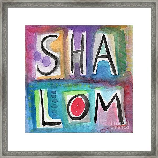 Shalom - Square Framed Print
