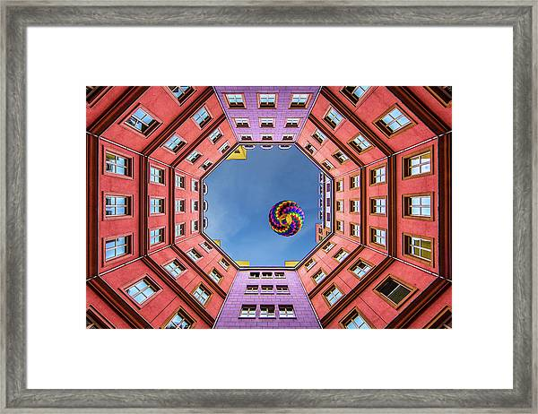 Shapes And Swirls Framed Print