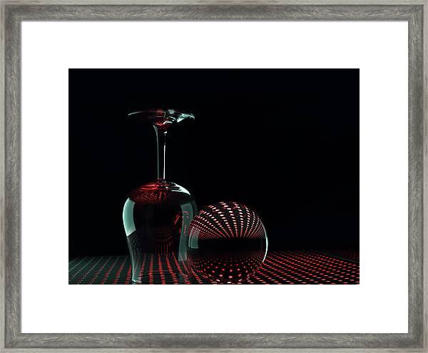 Shapes In Red Framed Print by Heidi Westum