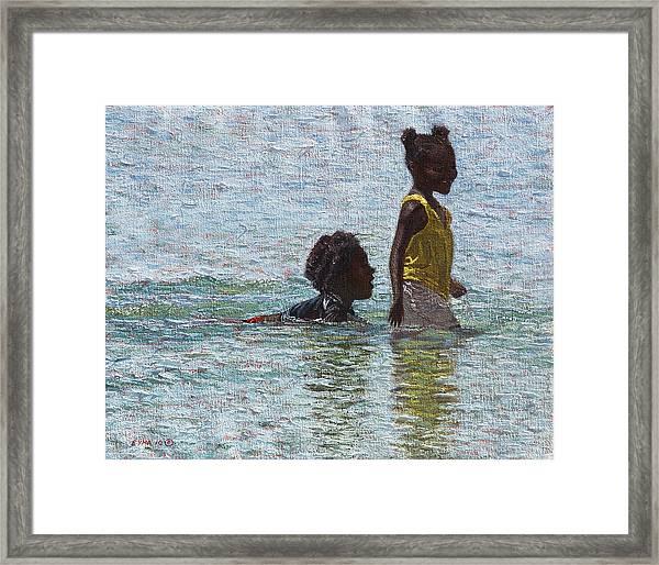 Wading Framed Print