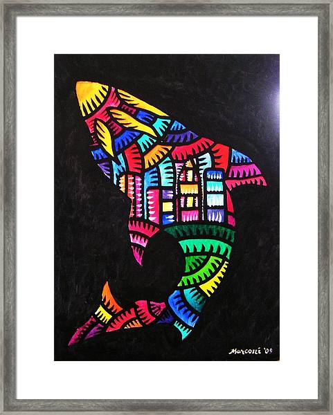 Shark Sf Framed Print