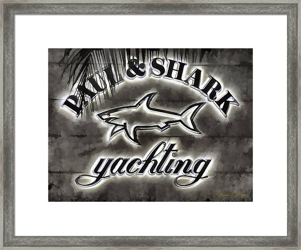 Shark Sign Framed Print