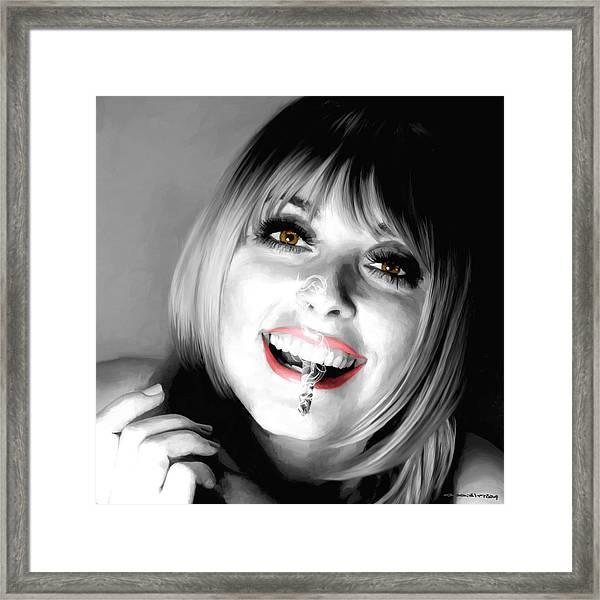 Sharon Tate Large Size Portrait Framed Print