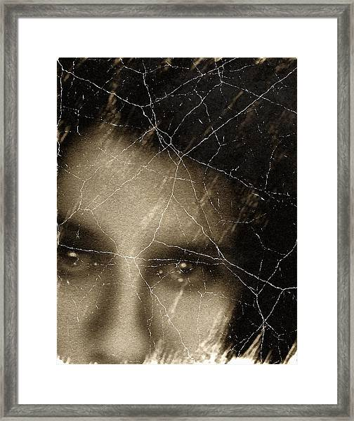 She Died Before Your Eyes Framed Print
