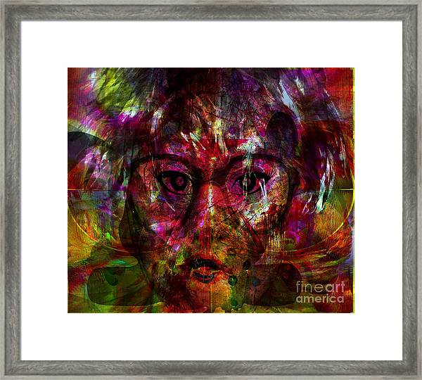 She Is Present But Very Absent Framed Print by Fania Simon