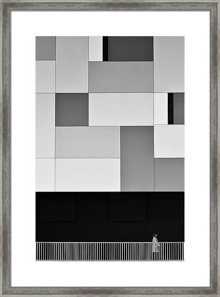 She Lives In A Fragmented World Framed Print