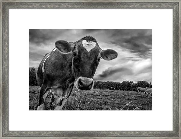 She Wears Her Heart For All To See Framed Print
