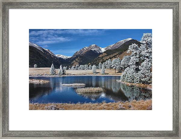 Sheep Lakes In Late October Framed Print