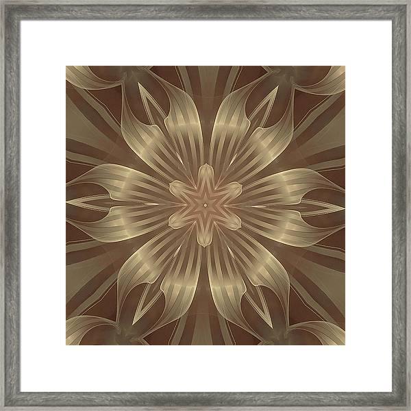 Sheer Linen Framed Print