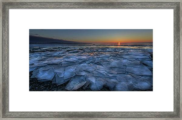 Sheets Of Ice Framed Print