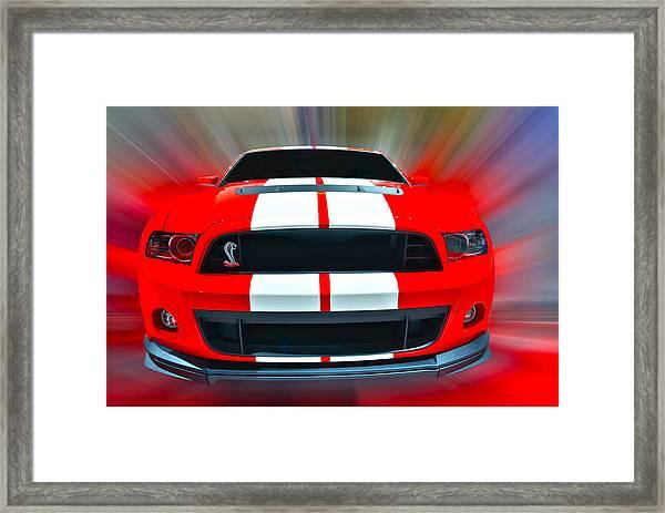 Shelby Gt 500  2013 Framed Print