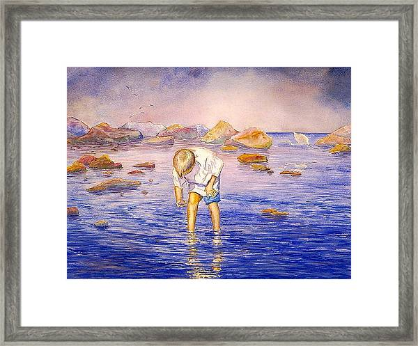Shell Collecting Framed Print