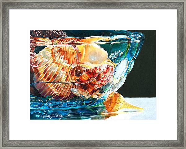 Shell Game Framed Print by Arlene Steinberg