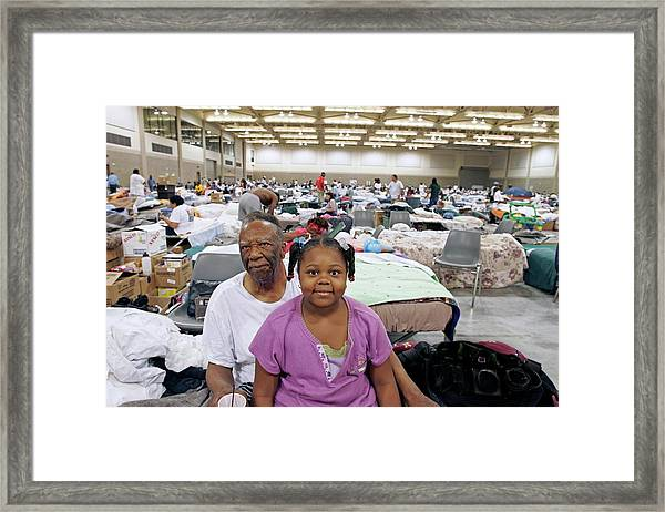 Shelter For Hurricane Katrina Survivors Framed Print