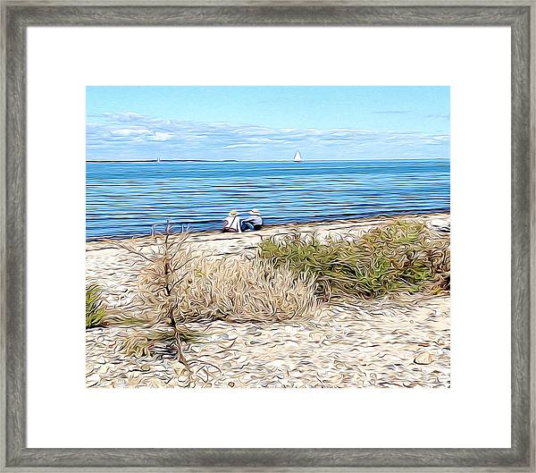 Shelter Island Beach Framed Print