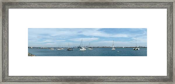 Shelter Island Panorama Framed Print