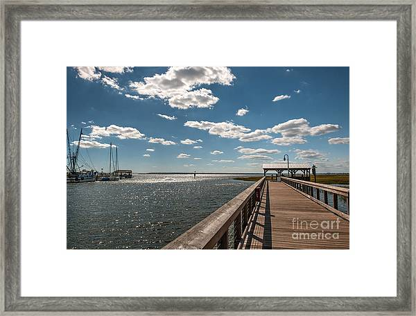 Shem Creek Pavilion  Framed Print