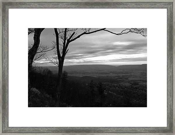 Shenandoah Hillside Bw Framed Print