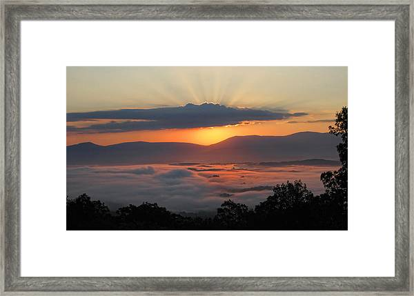 Shenandoah Morning Sunrise Fog  Framed Print
