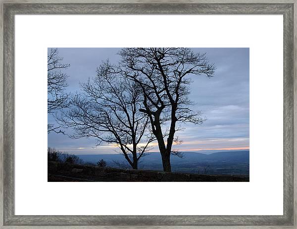 Shenandoah Sunset Framed Print