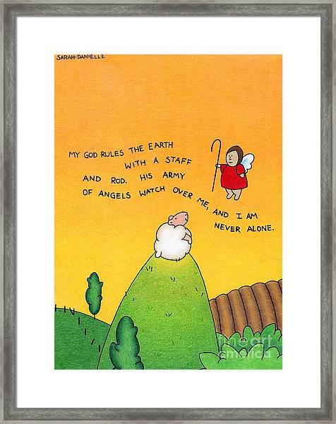 Shepherd Angel Framed Print