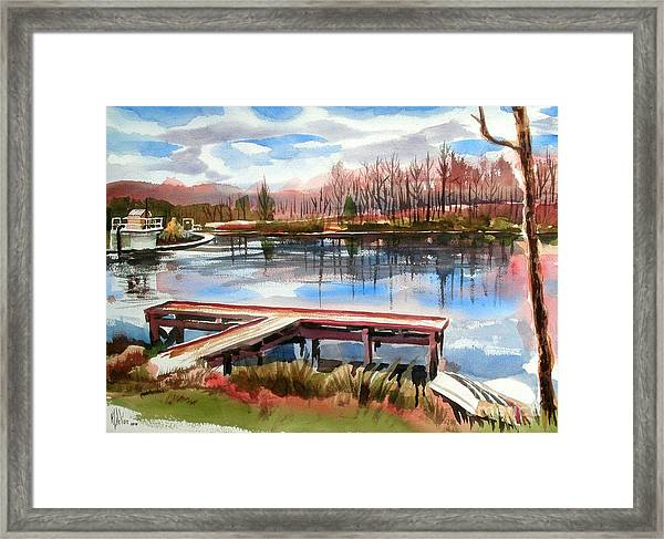Shepherd Mountain Lake In Winter Framed Print