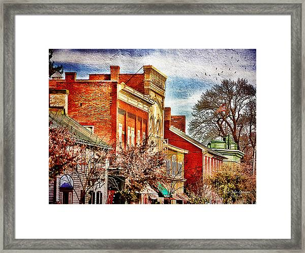 Shepherdstown - East German Street In November Framed Print