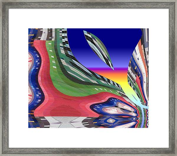She's Leaving Home Abstract Framed Print