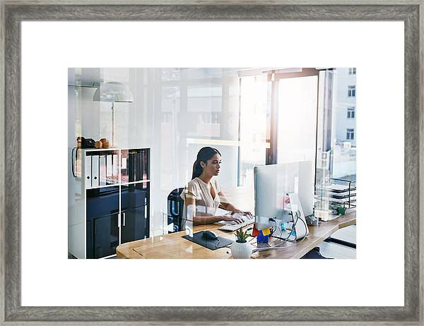 She's Very Thorough In Completing Tasks Framed Print by Gradyreese