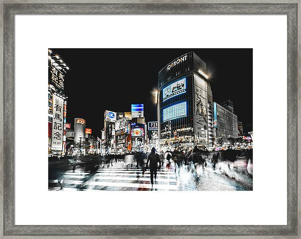 Shibuya Crossing Framed Print by Carmine Chiriac??