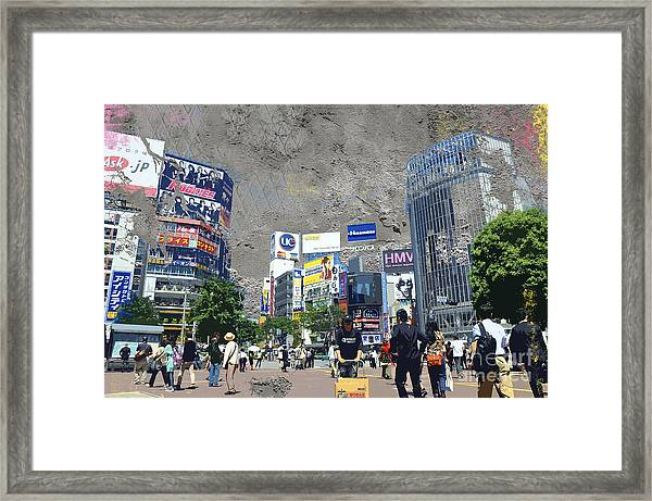 Shibuya Street Creation Framed Print