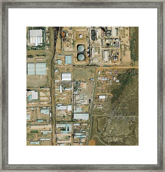 Shifa Pharmaceutical Plant Framed Print by Geoeye/science Photo Library