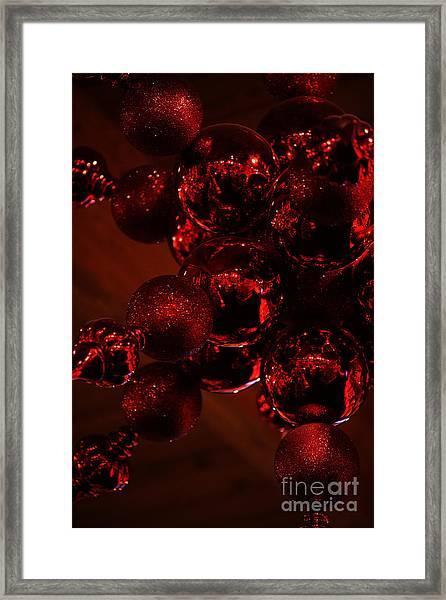 Shimmer In Red Framed Print
