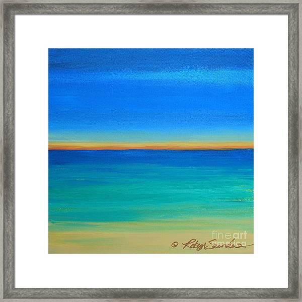 Shimmering Sea Framed Print