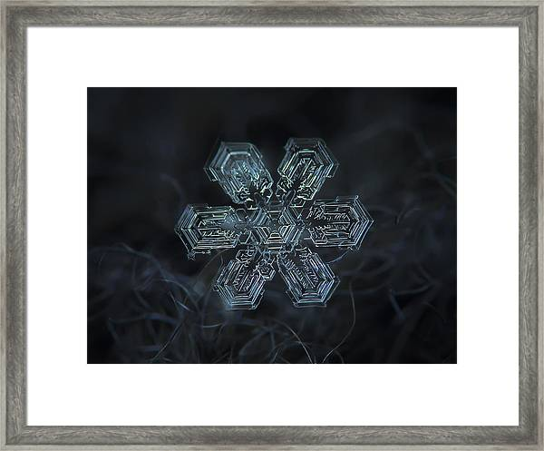 Snowflake Photo - Shine Framed Print